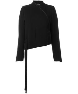 Ann Demeulemeester | Asymmetric Curve Zip Front Cropped Jacket 38