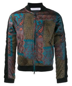 James Long | Paisley Print Bomber Jacket Small Cotton/Polyester