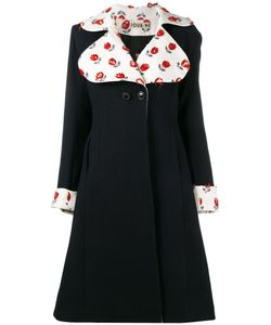 Jour/Né | Embroidered Flared Coat 36 Wool/Polyamide/Cashmere/Cotton