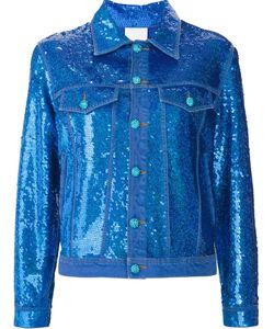 Ashish   Sequin Effect Denim Jacket Women Small