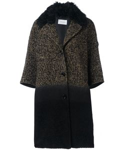Yves Salomon | Three-Quarters Sleeve Knit Coat 38 Polyester/Lamb