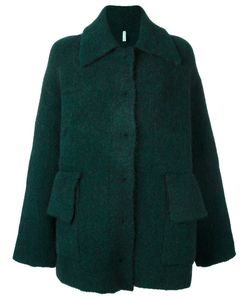 Boboutic | Single Breasted Coat Small Polyamide/Wool/Yak/Spandex/Elastane