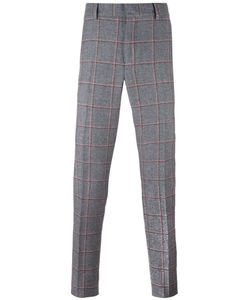 Bally   Checked Tailored Trousers 46 Silk/Cotton/Wool