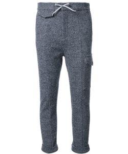 Fad Three | Drawstring Cropped Track Pants Medium