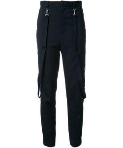 G.V.G.V. | Eyelet Detail High-Waisted Trousers 36 Polyester/Polyurethane/Wool