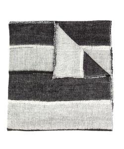 Denis Colomb | Dolpo Wide Stripe Shawl Adult Unisex Cotton/Cashmere