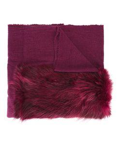 Cutuli Cult   Fur Panel Tweed Shawl Nylon/Wool/Possum Fur