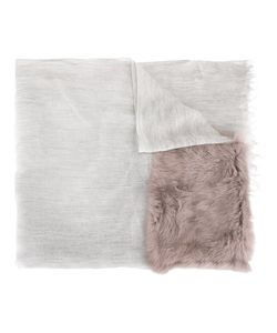 Cutuli Cult   Modal Blend Fur Panel Scarf Rabbit Fur/Modal/Cashmere