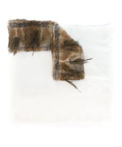 Cutuli Cult   Fur Panel Scarf Rabbit Fur/Modal/Cashmere/Feather