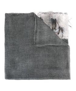 Cutuli Cult   Fur Panel Raw Edge Scarf Rabbit Fur/Mohair/Wool/Feather