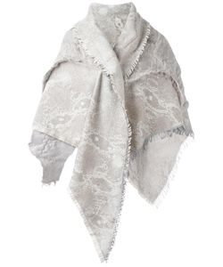 Cutuli Cult | Tweed Fringed Triangle Scarf Sheep Skin/Shearling/Wool/Viscose/Cashmere