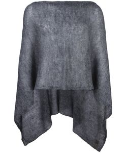 Al Duca D'Aosta | 1902 Semi-Sheer Knitted Short Cape Acrylic/Polyamide/Mohair
