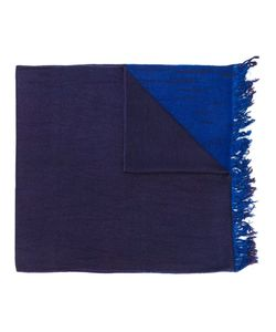 Suzusan | Frayed Colour Block Scarf Cashmere/Silk