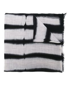 Suzusan | Striped Effect Frayed Scarf Wool
