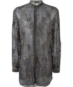 Unconditional | Embroidered Silk Shirt Xl Silk