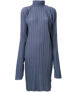 Strateas Carlucci   Pleated Funnel Neck Tunic Xs Polyester