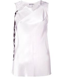 Ann Demeulemeester Blanche   Sleeveless Collar Cutout Blouse 38