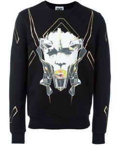 Les Hommes Urban | Mask Printed Sweatshirt Medium Cotton