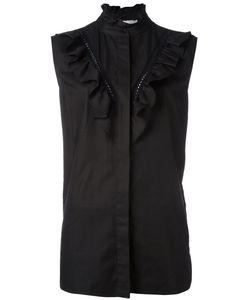 Stella McCartney | Ruffle Detail Sleeveless Shirt 42 Cotton