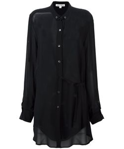Ann Demeulemeester Blanche | Semi Sheer Long Shirt 34