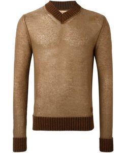 Al Duca D'Aosta | 1902 V-Neck Sweater Small Wool/Mohair/Acrylic/Polyamide