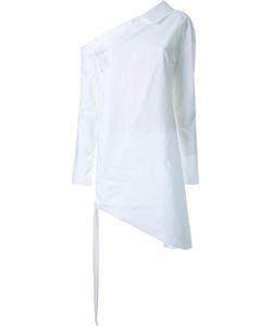 Manning Cartell | Cold-Shoulder Ruched Blouse 10 Cotton