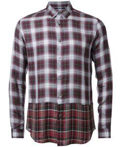 Hl Heddie Lovu | Layered Checked Shirt Small Rayon/Lyocell/Wool