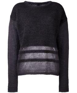 Ilaria Nistri | Stripe Detailing Sweater Medium Silk/Mohair/Virgin Wool/Polyamide