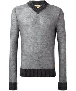 Al Duca D'Aosta | 1902 V-Neck Sweater Xxl Wool/Mohair/Acrylic/Polyamide