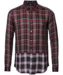 Hl Heddie Lovu | Panelled Checked Shirt Medium Rayon/Lyocell/Wool