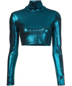 Alexander Lewis | Turtleneck Cropped Top 0 Viscose/Spandex/Elastane