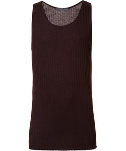 Denis Colomb | Ribbed Tank Top Medium Silk/Cashmere