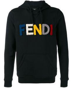 Fendi   Logo Hoodie 48 Wool/Lamb Fur/Cotton