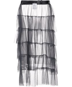 Area Di Barbara Bologna | Ruffled Sheer Skirt Polyamide