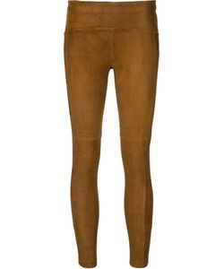 Getting Back To Square One | Cropped Suede Leggings