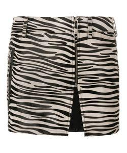 Filles A Papa | Zebra Print Mini Skirt 3