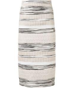 Christian Siriano | Woven Stripe Skirt