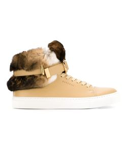 Buscemi | Rabbit Fur Detail Hi-Top Sneakers 7 Calf