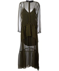 Petar Petrov | Sheer Polka Dot Dress 36 Silk/Leather/Cupro
