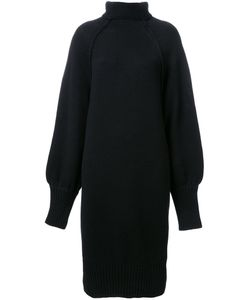 G.V.G.V. | Raw Edge Funnel Neck Dress Small Wool