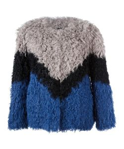 Ravn | Tricolour Short Jacket 36 Lamb Fur