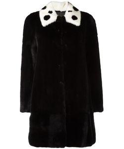 Blancha | Three-Quarters Sleeve Coat 44 Mink Fur/Viscose