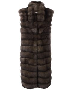 Manzoni 24 | Oversized Fur Gillet Medium Wool/Cashmere/Sable