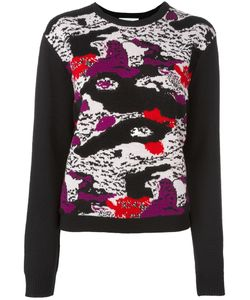 Carven | Abstract Print Jumper Small Wool