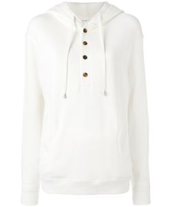 Helmut Lang | Button Placket Hoodie Medium Cotton