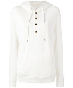 Helmut Lang | Button Placket Hoodie Medium Cotton
