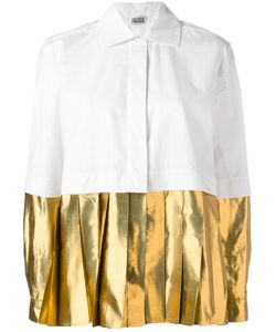 Arthur Arbesser | Pleated Hem Shirt 42 Cotton/Polyester