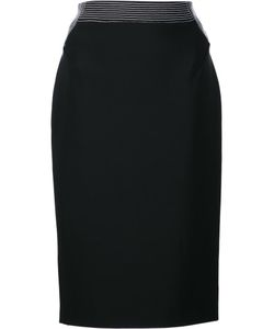 Mugler | Fitted Pencil Skirt 38 Viscose/Polyamide/Spandex/Elastane/Pvc