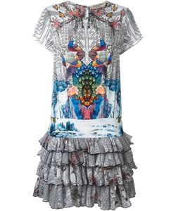 Piccione.Piccione | Piccione. Piccione Peacock Print Ruffle Dress 42