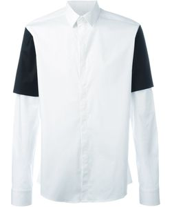 Les Hommes Urban | Contrast Sleeve Layer Shirt